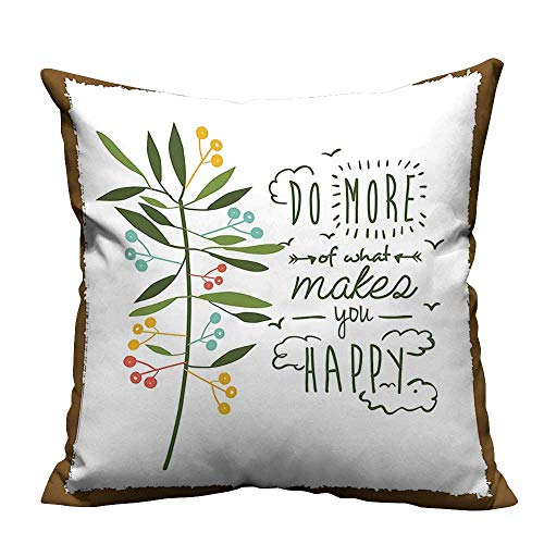 YouXianHome Modern Fashion Cushion Cover Progress Ideas Trendy Ideology Mindfulness Olive Tree Fruits Flying Birds Leaf Resists Dust Mites(Double-Sided Printing) 35x35 -
