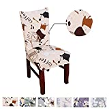 Argstar 2pcs Chair Covers for Dining Room Spendex Slipcovers Coffee Home Décor