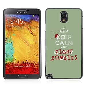 YOYOSHOP [Funny Keep Calm & Fight Zombies] Samsung Galaxy Note 3 Case