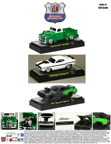 Ground Pounders 3 Cars Set Release 12 WITH CASES 1/64 by M2 Machines 82161-12