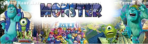 Personalized Monster University Inc Poster Custom Name Painting Banner