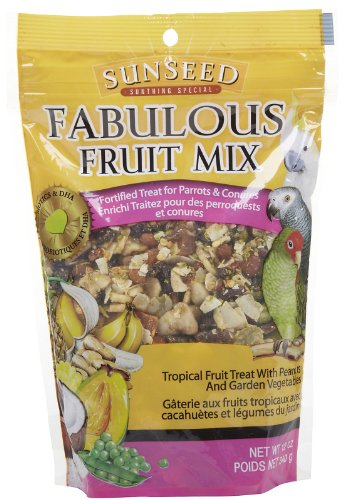 Sun Seed Company BSS59205 Fabulous Fruit Mix Parrot Treats Pouch, 12-Ounce, My Pet Supplies