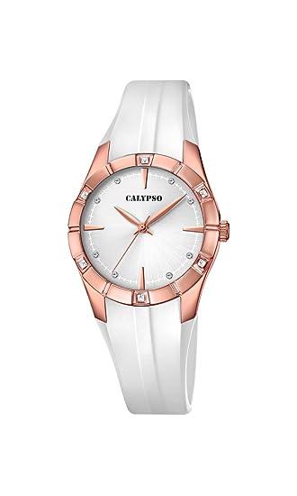 Calypso Reloj Análogo clásico para Mujer de Cuarzo con Correa en Plástico K5716/3: Amazon.es: Relojes