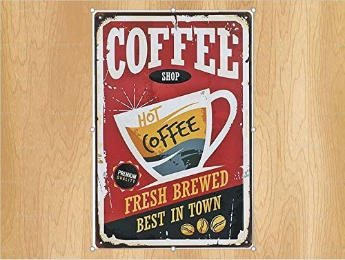 Amazon.com: UNiQ Designs Vintage Kitchen Coffee Tin Signs ...