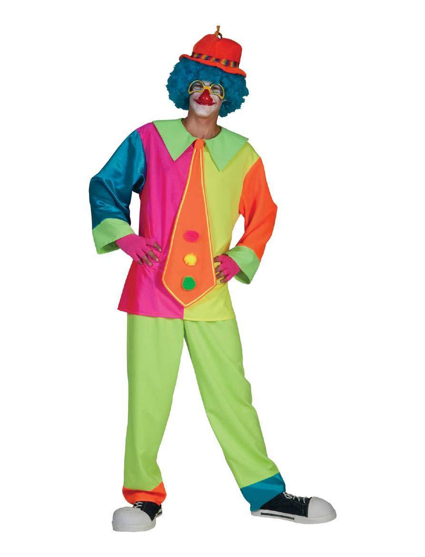 Cravatta gigante blu travestimenti clown