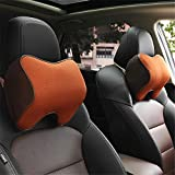 Car Neck Pillow Memory Foam Car Neck Pillow Breathable Auto Head Neck Rest Cushion Relax Neck Support Headrest Comfortable Soft Pillows for Travel Car Seat & Home for Driving, Travel, Home and Office