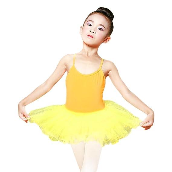 Beikoard Niña Vestido Liquidación, Toddler Girls Vestido de Ballet Tutu Leotard Correa Ropa Trajes Danza
