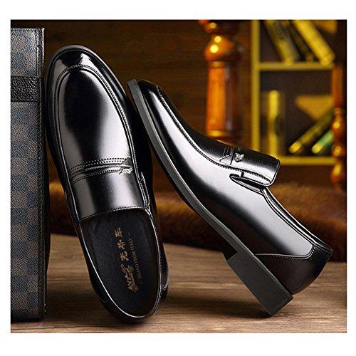 Vieux Pied Sapatos Chaussures Père Delamode Hommes En Noir Cadeaux Personnes Cuir Affaires FOnqRng5wx