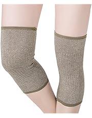 JIAHG Anti-slip kniebeschermers kniewarmer dames elastische kniebandage winter warme kniebeschermers thermo knieorthese voor vrije tijd en allerlei sporten, voetbal, hardlopen, dansen, yoga, 1 paar