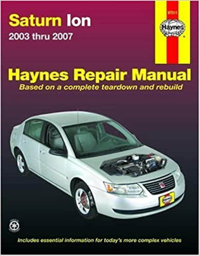 Saturn ion 2003 2007 automotive repair manual haynes saturn ion 2003 2007 automotive repair manual 1st edition fandeluxe Images