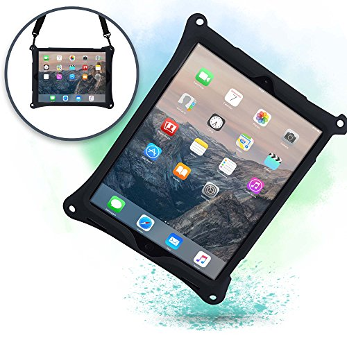 Cooper Bounce Strap Shoulder Strap Rugged Case Compatible with Apple iPad Pro 12.9 | Multi-Functional Shock Proof Heavy Duty Cover with Stand, Hand Strap | Adults Kids Friendly | A1670 A1671 (Black)