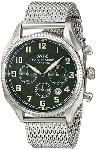 AVI-8 Men's AV-4025-12 Supermarine Seafire Silver-Tone Stainless Steel Watch