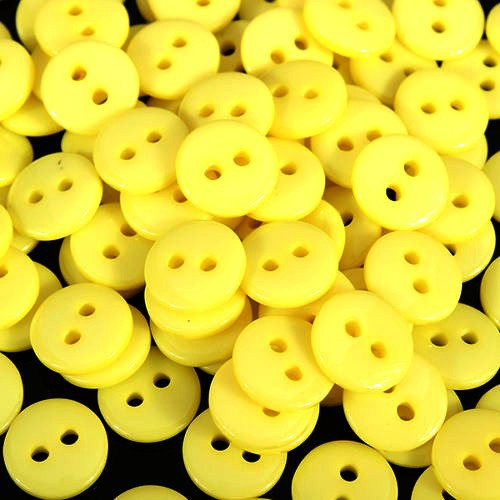9mm Yellow Buttons