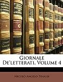 Giornale De'Letterati, Nicol&ograve Tinassi and Angelo, 1148580174