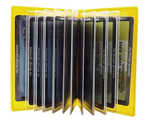 Con design Credito Scomparti E Designs Diversi Giallo Colori Ue In germany Mj blu Di Made Porta Carte 12 w0fttq