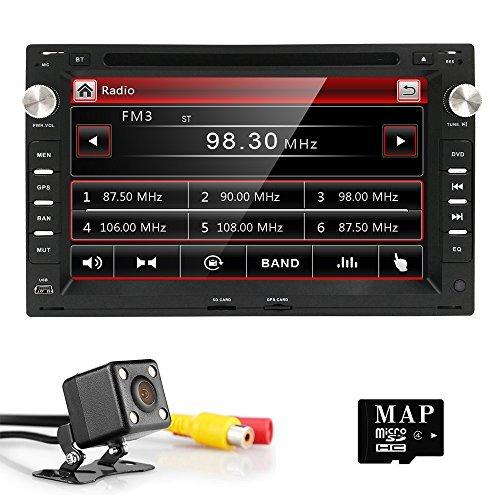 Double 2 Din Car GPS Stereo DVD Player Radio for VW Passat t5 Golf MK5 Jetta SEAT Bora Skoda + Backup Camera