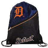 MLB Detroit Tigershigh End Diagonal Zipper Drawstring Backpack, Detroit Tigers, One Size
