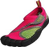 NORTY Little Girls Skeletoe Mesh Waterproof Athletic Aqua Socks for Pool Beach, Fuchsia 38888-9MUSToddler