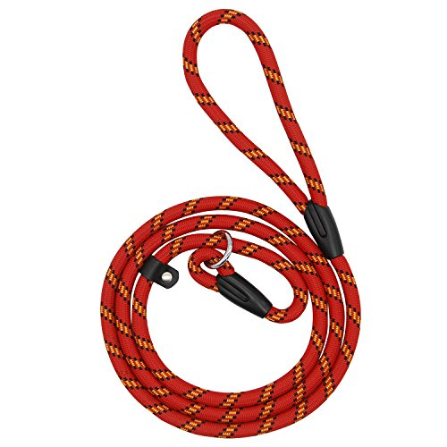 Coolrunner Pet Dog Slip Training Leash Lead for Dogs 10-80lbs 4foot/1.2m Long (Red) ()
