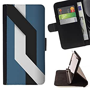 DEVIL CASE - FOR Samsung Galaxy S5 Mini, SM-G800 - Minimalist Lines - Style PU Leather Case Wallet Flip Stand Flap Closure Cover