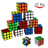 """Party Puzzle Toy,12 Pack Mini Cubes Set Party Favors Cube Puzzle,Original Color 1.18"""" Puzzle Magic Cube Eco-friendly ABS Material with Vivid Colors,Party Puzzle Game for Boys Girls Kids Toddlers"""