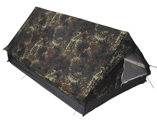MFH 2 Person Tent Minipack With Mosquito Net Flecktarn Camo