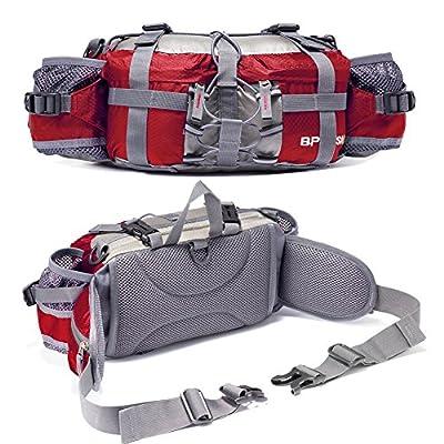 YUOTO Outdoor Fanny Pack Hiking Camping Fishing Waist bag 2 Water Bottle Holder Lumbar Pack