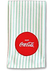 Coca-Cola 1950s Retro Striped Tea Towel