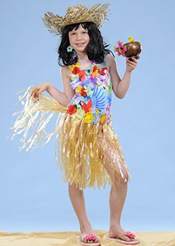 Falda hawaiana paja hierba para niños: Amazon.es: Juguetes y juegos