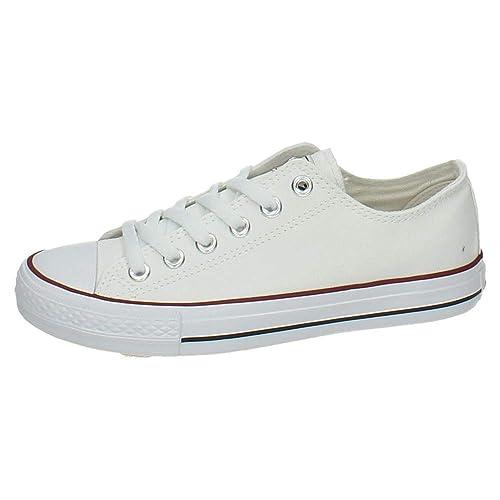 ZAPATOP AW0101-02 Zapatillas DE Tela Mujer Zapatillas Blanco 38: Amazon.es: Zapatos y complementos