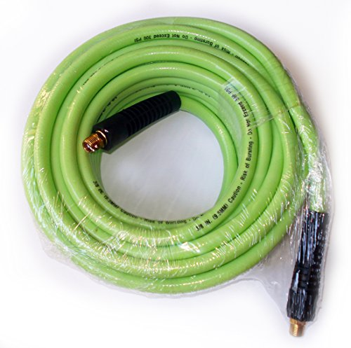 3/8-Inch by 50-Feet 300 PSI PVC Air Hose with 1/4-Inch MNPT Brass Ends