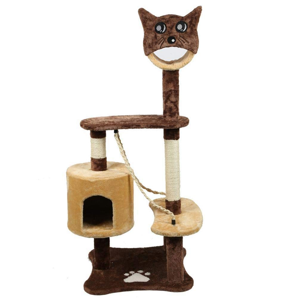 TOUYOUIOPNG Deluxe Multi Level Cat Tree Creative Play Towers Trees for Cats Wooden Cat Toys Climbing supplies grinding Paws predect Furniture Pet 65  60  130cm