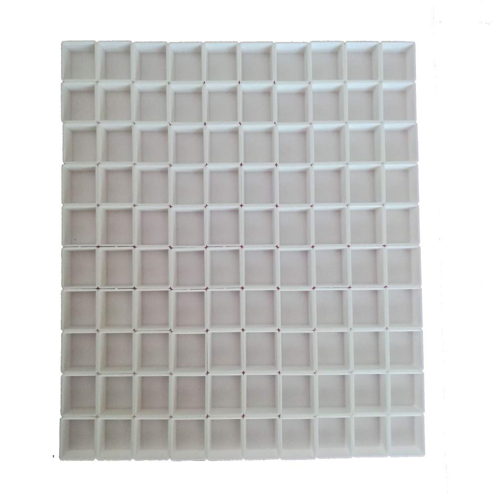BOOYEE Empty White Plastic Watercolor Paint Pans 50Pcs Half Pans