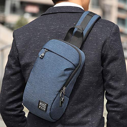 Weatly Polyvalent À Blue De Bandoulière Et Grande Pour Imperméable color Blue Homme Sac Capacité BBwq4SxT