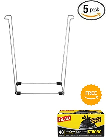 Bag Buddy Pack Of 5 Trash Bag Holder   Multi Use Support Stand With Free