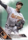 2016 Topps Team Edition #BO-16 Miguel Gonzalez Baltimore Orioles Baseball Card in Protective Screwdown Display Case