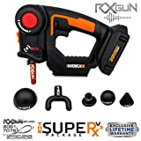 RxGun SUPERx v3 Percussion Massager Cordless Rechargeable Handheld Percussive Muscle Stimulation Vibration Device Deep Tissue Muscles, Recovery Relief Massage Gun Includes WX550L NOT TheraGun
