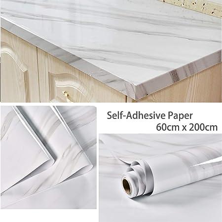 Papier De Contact En Marbre 60 Cm X 200 Cm Autocollant En Papier