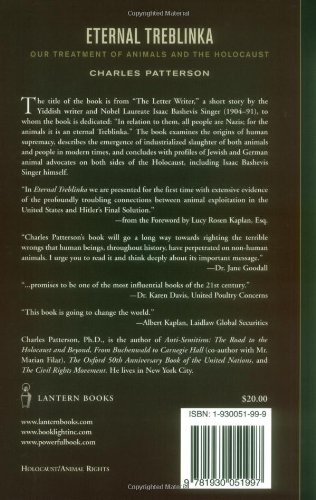 Download Eternal Treblinka Our Treatment Of Animals And The Holocaust By Charles Patterson