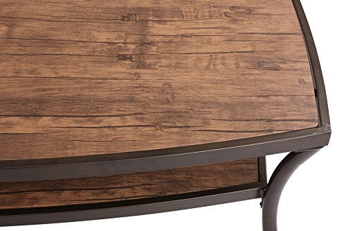3 Piece Modern Rectangular Coffee Table and 2 End Tables Living Room Set (Light Brown)