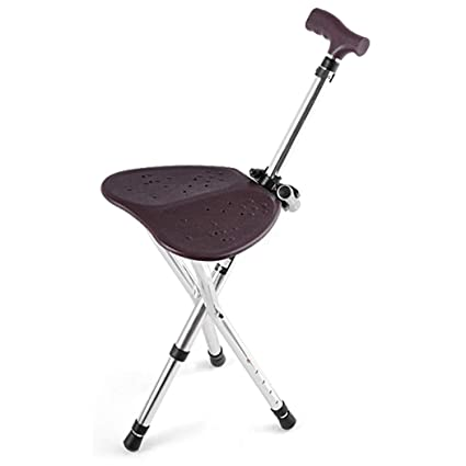 Terrific Amazon Com Zjfsx Cane Seat Walking Stick Folding Stool Caraccident5 Cool Chair Designs And Ideas Caraccident5Info