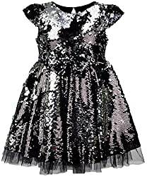 Girl Reversible Sequin Party Dress
