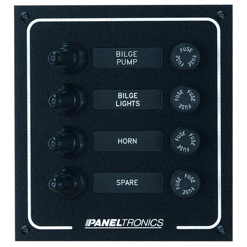 1 - Paneltronics Waterproof DC 4 Position Booted Toggle & Fuse ()