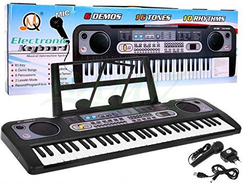 BSD Piano Electrique avec Microphone Clavier Keyboard MQ-020UF