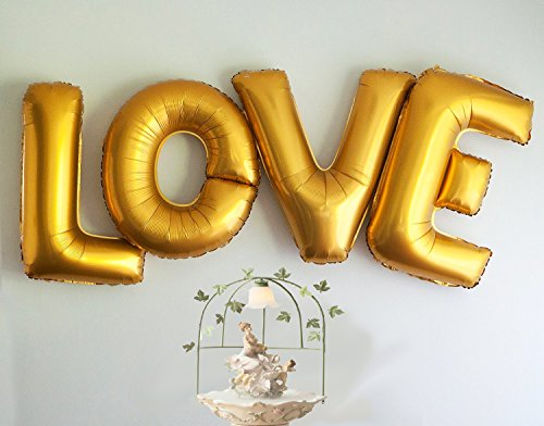 langxun 40 with 4 letterslove gold foil balloons air filled helium balloons for wedding birthday party engagement