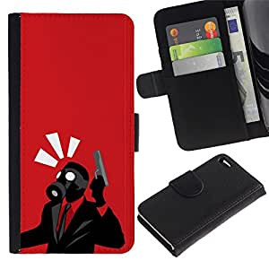 All Phone Most Case / Oferta Especial Cáscara Funda de cuero Monedero Cubierta de proteccion Caso / Wallet Case for Apple Iphone 4 / 4S // Spy Psycho - B0Rderlands Tf Game Gaming