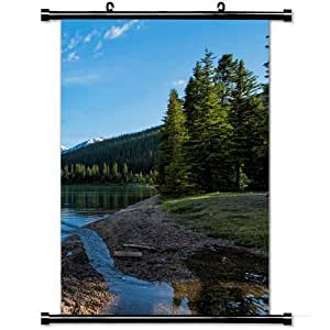 Home Decor Art Poster with Banff National Park Nature Mobile Wallpaper Wall Scroll Poster Fabric Painting 23.6 X 35.4 Inch (60cm X 90 cm)