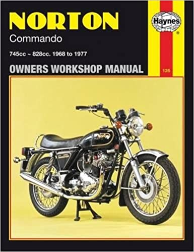 norton commando owners workshop manual: 745cc, 828cc, thru 68-77 (haynes  repair manuals): haynes haynes: 9780856961250: amazon com: books