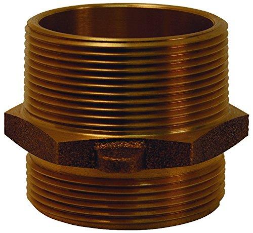 Dixon DMH20DR20 2'' x 2'' Drum Thread Adapter x Male NPT, 2'' ID, Brass