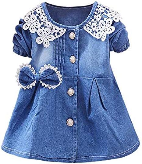 Vestido de Niña Floral Bowknot Vestidos de Princesa con Falda ...